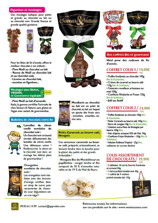 Amicale laique Derval chocolats Noel vente